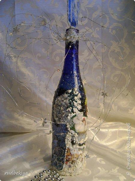 Доброй ночи страна Мастеров! Хочу показать Вам свою любимую бутылочку Снежная королева. Делала я ее моей хорошей знакомой с каким то особым трепетным чувством. тема была навеяна во-первых, тем что это ее любимая сказка, а также чудесным аквамариновым цветом бутылочки.  Я думаю, что Вы все хорошо помните эту замечательную сказку. Так что приятного путешествия...Все стихи взяты из  Сказки в стихах Снежная королева. (По мотивам одноимённой сказки Г. Х. Андерсена. Переложение на стихи — Владимир Глушков). фото 27