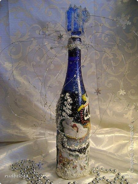 Доброй ночи страна Мастеров! Хочу показать Вам свою любимую бутылочку Снежная королева. Делала я ее моей хорошей знакомой с каким то особым трепетным чувством. тема была навеяна во-первых, тем что это ее любимая сказка, а также чудесным аквамариновым цветом бутылочки.  Я думаю, что Вы все хорошо помните эту замечательную сказку. Так что приятного путешествия...Все стихи взяты из  Сказки в стихах Снежная королева. (По мотивам одноимённой сказки Г. Х. Андерсена. Переложение на стихи — Владимир Глушков). фото 2