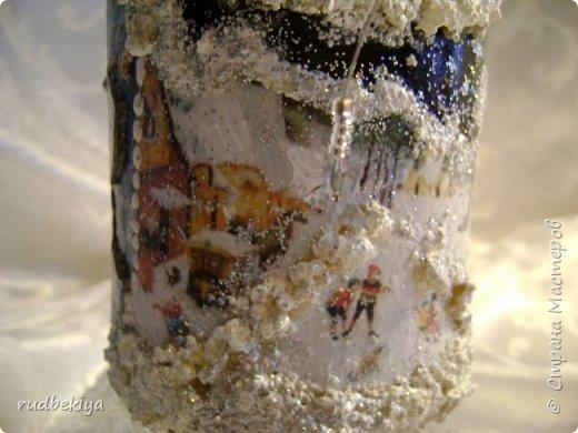 Доброй ночи страна Мастеров! Хочу показать Вам свою любимую бутылочку Снежная королева. Делала я ее моей хорошей знакомой с каким то особым трепетным чувством. тема была навеяна во-первых, тем что это ее любимая сказка, а также чудесным аквамариновым цветом бутылочки.  Я думаю, что Вы все хорошо помните эту замечательную сказку. Так что приятного путешествия...Все стихи взяты из  Сказки в стихах Снежная королева. (По мотивам одноимённой сказки Г. Х. Андерсена. Переложение на стихи — Владимир Глушков). фото 3