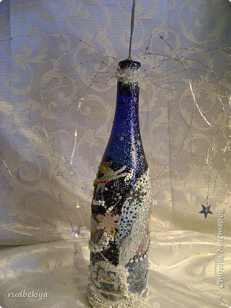 Доброй ночи страна Мастеров! Хочу показать Вам свою любимую бутылочку Снежная королева. Делала я ее моей хорошей знакомой с каким то особым трепетным чувством. тема была навеяна во-первых, тем что это ее любимая сказка, а также чудесным аквамариновым цветом бутылочки.  Я думаю, что Вы все хорошо помните эту замечательную сказку. Так что приятного путешествия...Все стихи взяты из  Сказки в стихах Снежная королева. (По мотивам одноимённой сказки Г. Х. Андерсена. Переложение на стихи — Владимир Глушков). фото 10