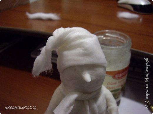 Игрушка Новый год Папье-маше Снеговички из ватного папье-маше Вата фото 16
