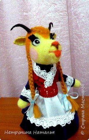 Нетронина Наталья, Игрушка -Козочка -Катюшка, (смешанная техника, сухое валяние, фетр и прочие ), высота 22 см, фото 4
