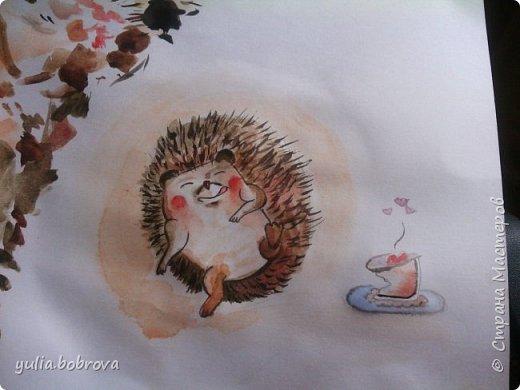 Акварельный кот:) фото 6