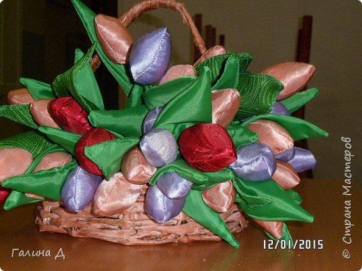 Готовимся к весне и вот корзина тюльпанов!