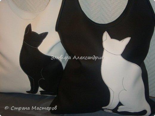 Сумка с кошкой (выкройку прилагаю) фото 1