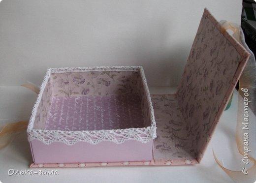 Добрый день. Хочу показать вам шкатулку, которую делала в подарок для дочкиной подруги. Размер 15х16,5см и высотой 6см. фото 3