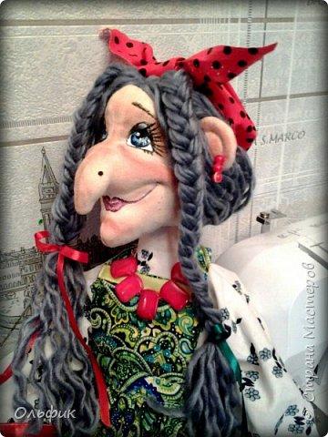 Здравствуйте дорогие жители моей любимой Страны!  Представляю на ваш суд вот такуб Бабку Ежку. Вдохновила мен на нее замечательная мастерица Сорбонна, мне конечно далеко до такого мастерства, но я старалась!))) фото 8