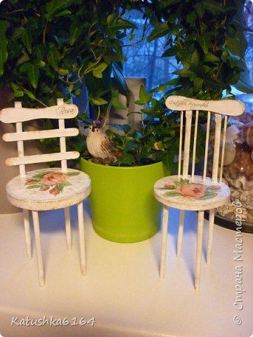 Мастер-класс Декупаж Моделирование конструирование кукольные стулья небольшой мк Картон фото 1