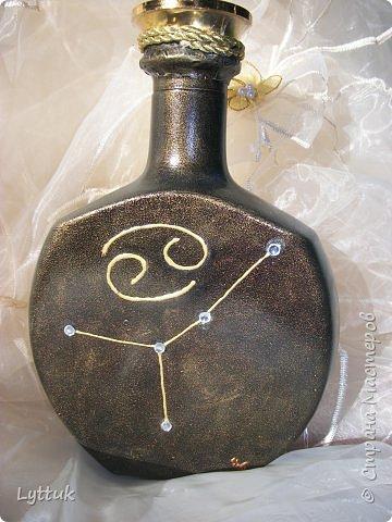 Всем привет. Спасибо, что заглянули на мою страничку. Моя бутылочка на день рождение. Именинник рак по гороскопу. Вид сбоку. фото 6