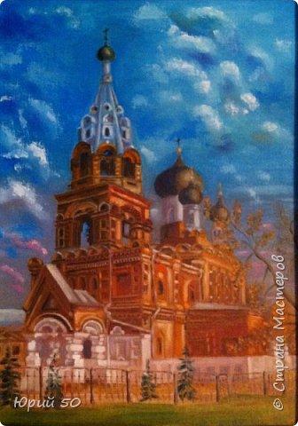 Спасская церковь в Нижнем Новгороде, холст на картоне/масло