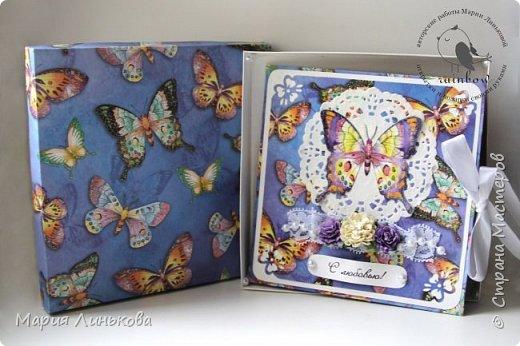 """Поздравительная открытка """"Голубая бабочка"""" фото 4"""