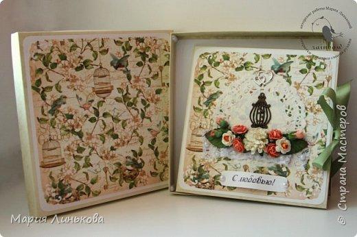 """Поздравительная открытка """"Голубая бабочка"""" фото 2"""