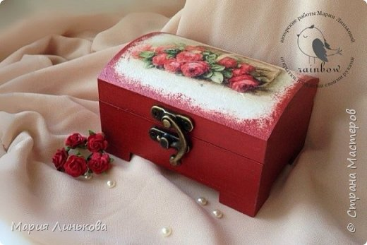 """Шкатулка ручной работы """"Розы"""" фото 1"""