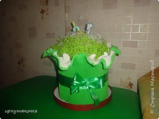 """У мужа было день рождения. Решила ему приготовить тортик. """"Испекся"""" за считанные минуты.  Идею подсмотрела здесь https://stranamasterov.ru/user/250848 фото 1"""
