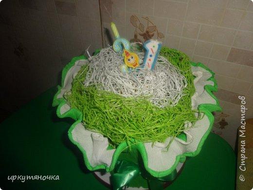 """У мужа было день рождения. Решила ему приготовить тортик. """"Испекся"""" за считанные минуты.  Идею подсмотрела здесь https://stranamasterov.ru/user/250848 фото 2"""