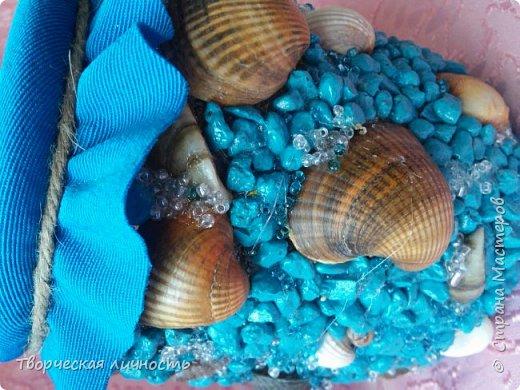 Здравствуйте , хочу похвастаться своей морской копилкой которую сотворила на ночь глядя)) фото 4