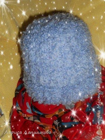 И снова здравствуйте, мои дорогие мастера!!! Сегодня я к вам с шапками, связанными на заказ.  Светлая шапочка с ушками и помпонами. Связана из Турецкой пряжи АЛИЗЕ - Миди Мозаик. Ушел 1 моток ( 100г-170м) фото 3