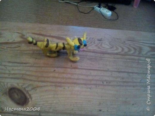 Кот Бич из Котов воителей.Все работы выполнены из пластилина.(Шипы на ошейнике кота сделаны из бисера.)  фото 3