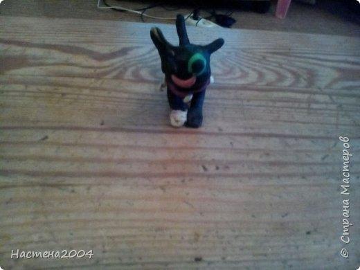 Кот Бич из Котов воителей.Все работы выполнены из пластилина.(Шипы на ошейнике кота сделаны из бисера.)  фото 5