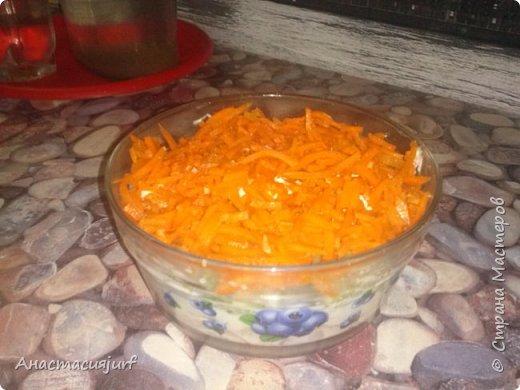 Салат с ветчиной и корейской морковкой фото 1