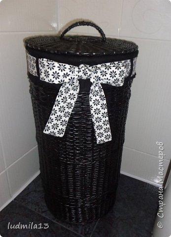 Еще корзина для белья круглой формы высотой 58 см фото 2
