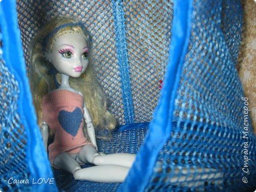 сегодня я сшила 3 кукольных костюмов вот один из них: Эту куклу зовут Лагуна ей я решила сшить тунику и ободок фото 11
