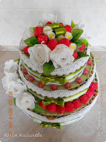 Торт из конфет фото 2
