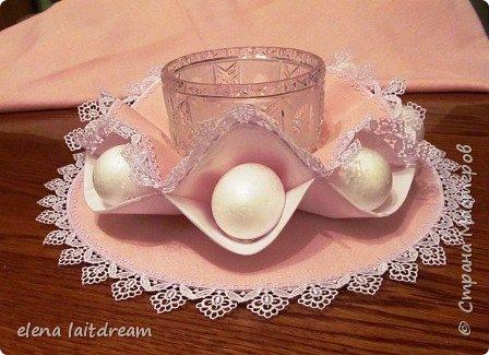 Пасхальная салфетка для пасхального кулича и яиц. Материалы: лен,батист,кружево.  фото 1