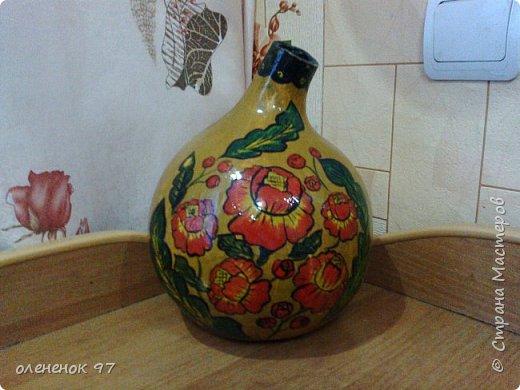роспись бутылочной тыквы