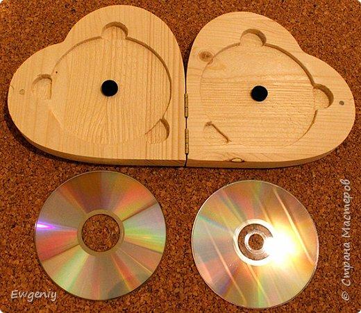 """Бокс (шкатулка, ларец) """"сердце"""", из массива сосны, для CD, DVD, BD дисков. фото 5"""
