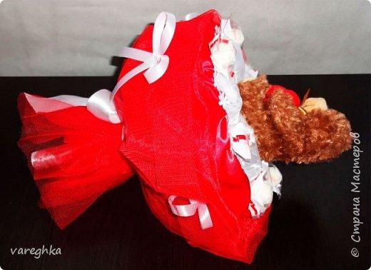 корзинка с розами из лент(душистая) фото 11