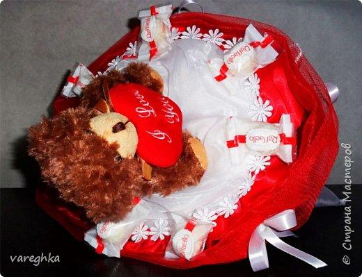 корзинка с розами из лент(душистая) фото 12