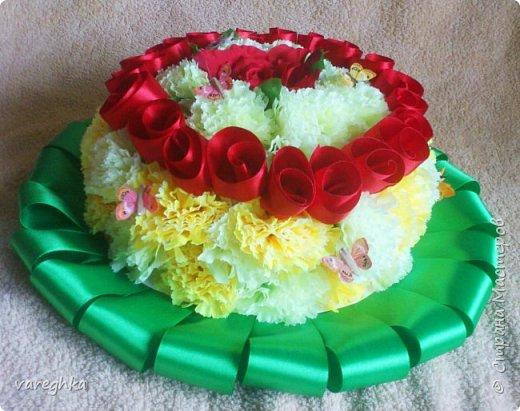 корзинка с розами из лент(душистая) фото 9