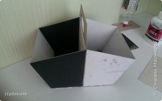 Мастер-класс Картонаж корзина для рукоделия картонаж Картон Клей Ткань фото 2