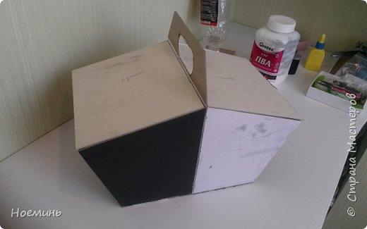 Мастер-класс Картонаж корзина для рукоделия картонаж Картон Клей Ткань фото 3
