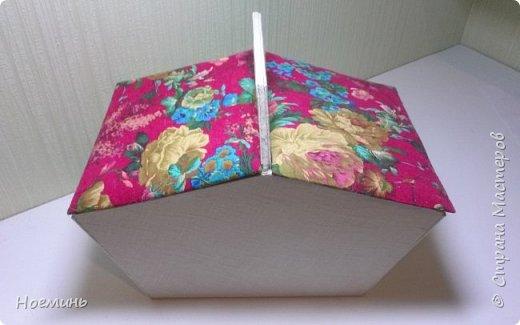 Мастер-класс Картонаж корзина для рукоделия картонаж Картон Клей Ткань фото 1