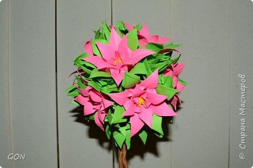 Моё первое цветочное дерево.  Много раз смотрела в интернете рассматривала подобные работы и вот решилась. Мои вдохновители: Marisabell (https://stranamasterov.ru/node/109096) и  ОЛЬГА1977 (https://stranamasterov.ru/node/380584). фото 6