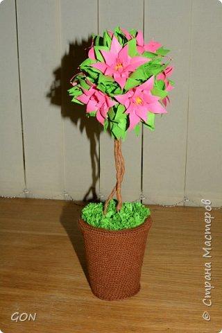 Моё первое цветочное дерево.  Много раз смотрела в интернете рассматривала подобные работы и вот решилась. Мои вдохновители: Marisabell (https://stranamasterov.ru/node/109096) и  ОЛЬГА1977 (https://stranamasterov.ru/node/380584). фото 2