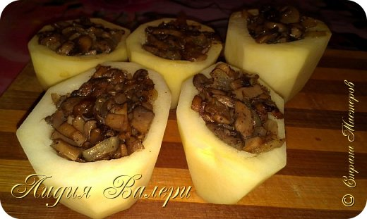 Кулинария Мастер-класс Рецепт кулинарный Картошечка фаршированная грибами +МК Продукты пищевые фото 17