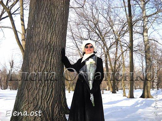 Связала себе пару комплектов зимних: берет+бактус. Нитки для берета использовала Alize Lanagold 140г, бактус - Alize Lanagold fine 100г. Берет вязала крючком №4 из рельефных столбиков, бактус - спицами №2.5. Комплекты получились теплыми и приятными на ощупь.  фото 9