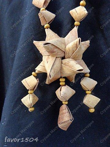 """После Нового года пришлось создать несколько очелий из бересты.... Очелье """"Звезды"""" создано по мотивам одного из предыдущих вариантов.... фото 5"""