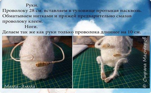 Мастер-класс Вязание крючком Овечки вязаные Нитки фото 7