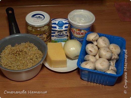 Кулинария Мастер-класс Рецепт кулинарный Сливочная запеканка из перловки с шампиньонами Продукты пищевые фото 2