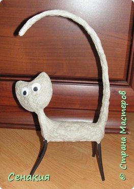 Мастер-класс Папье-маше Лемурный кот Бумага Клей Краска фото 6
