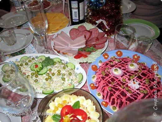 Ксюшин новогодний стол с овечкой в центре)))) фото 5