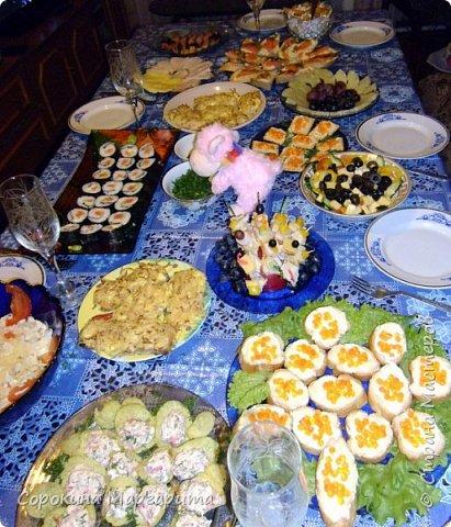 Ксюшин новогодний стол с овечкой в центре)))) фото 1