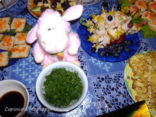 Ксюшин новогодний стол с овечкой в центре)))) фото 11
