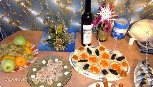 Ксюшин новогодний стол с овечкой в центре)))) фото 14