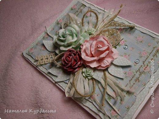 Добрый вечер!Наконец -то я вернулась к творчеству после очень длинного перерыва)))и сегодня три открытки. фото 6