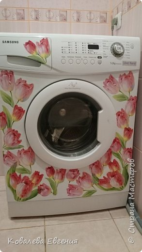 Декупаж стиральной машины  фото 1
